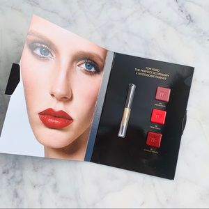 Tom Ford lipstick sample card with brush